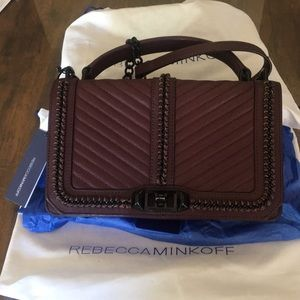 Cherry Rebecca Minkoff Quilted Love - Large